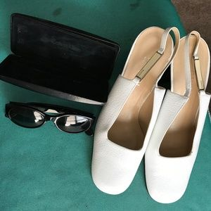 Gucci Shoes - GUCCI Slingback Pumps Sz 9B and Calvin Klein Glass